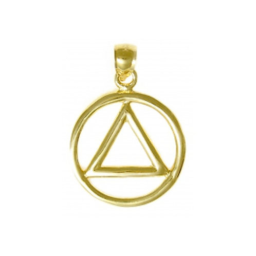 14K Gold Heavy Wire Symbol Pendant (Style #05-1)