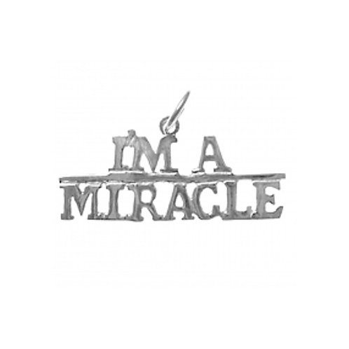 I'm A Miracle Sterling Silver Pendant (Style #161-15)