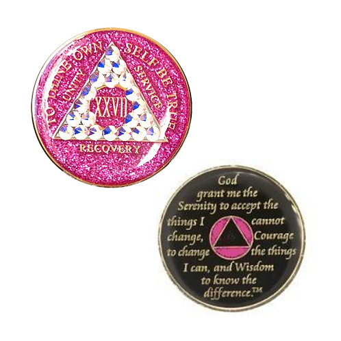 AA Glitter Bling Medallion (1 to 20 years)