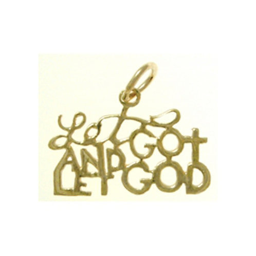 Let Go And Let God 14k Gold Pendant (Style #154-15)