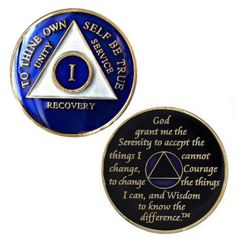 AA Tri-Plate Color Medallion (up to 20 years)