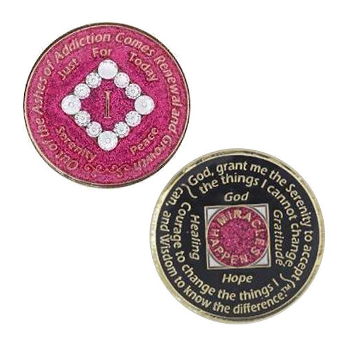 NA Glitter Bling Medallion (1 to 20 years)