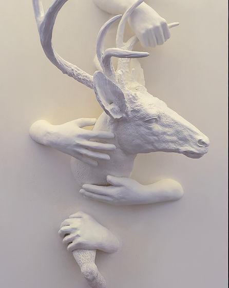 Amazing art deer