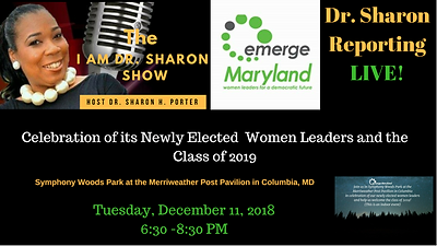 Dr. Sharon reporting LIVE - emerge maryl