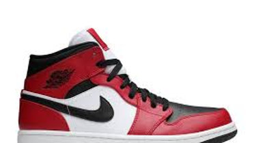 JORDAN 1S RED WHITE BLACK