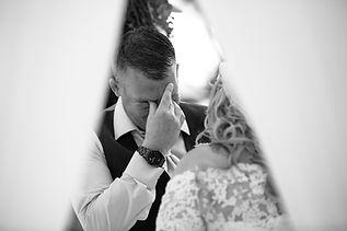 emotive moments during wedding ceremony