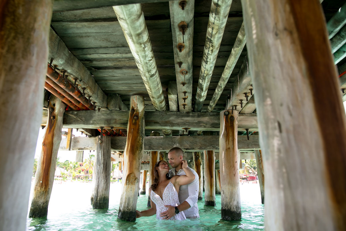 Beach Trash the Dress Photos in Isla Mujeres