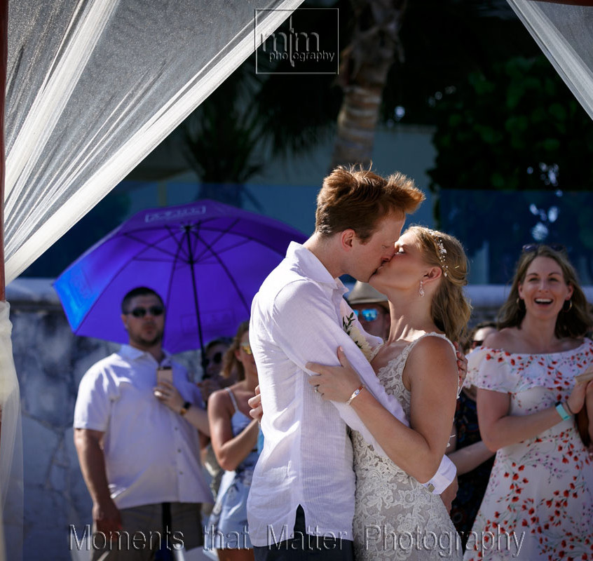 Ceremony kiss.