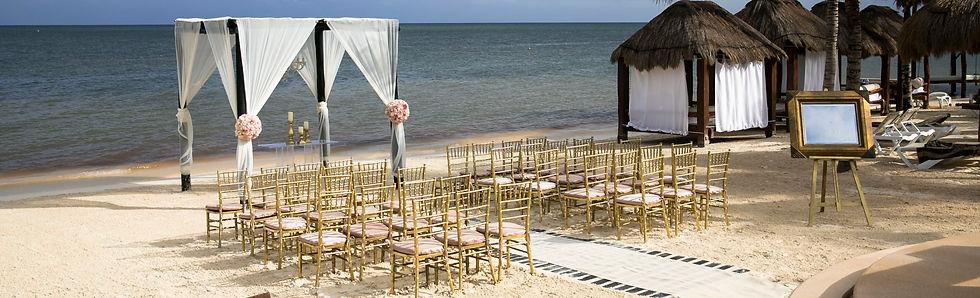 Wedding ceremony set up image