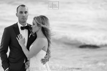 Timeless black and white bride and groom