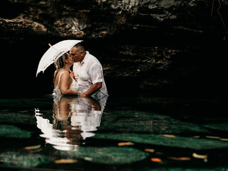 Vows Renewal Photography in a cenote