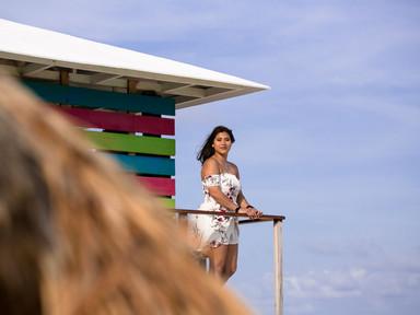 Cancun Senior photos on the beach