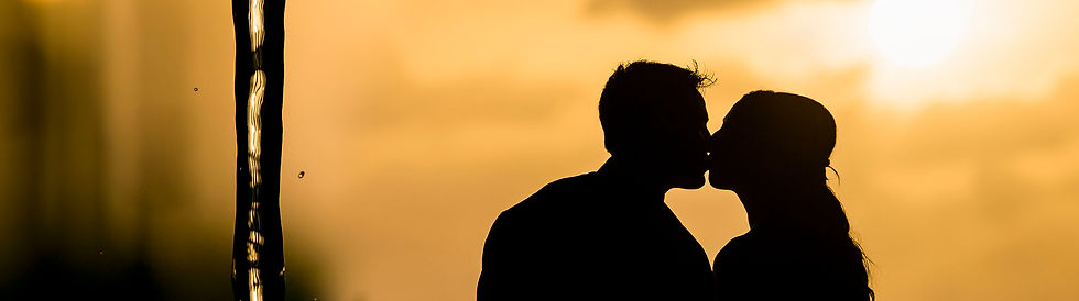 Sunset Wedding Couple image