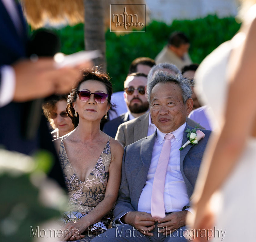 """Mom and dad looking on at their son say """"I DO""""!"""