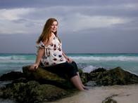 Senir photo on the beach