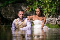 Wedding Newlyweds in the jungle