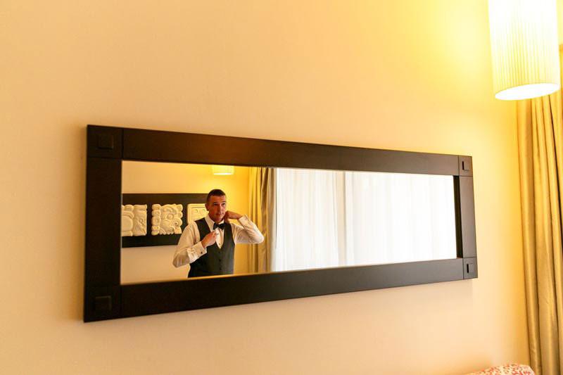 Groom in Mirror