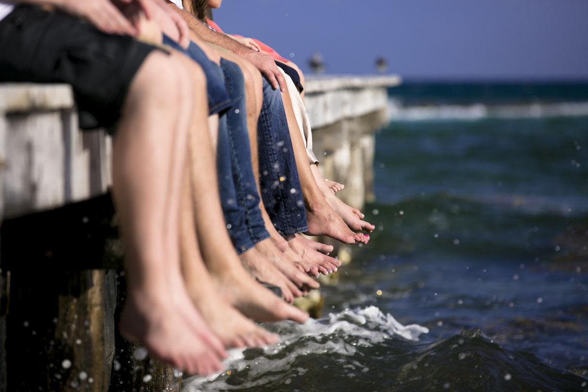 Feet int he water