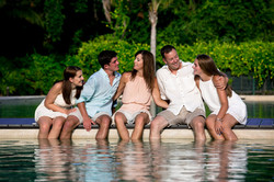 Family session in the pool