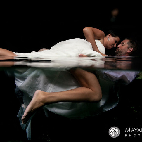 Amanda & Sidney. Intimate Trash the Dress Session in the Mayan Jungle