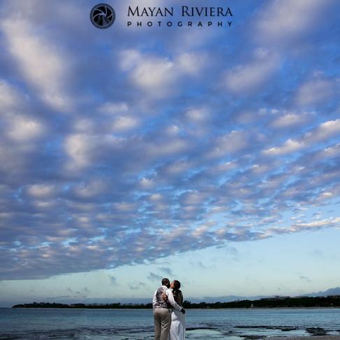 Kiesha & Andrew. Playa del Carmen Sunrise Session.