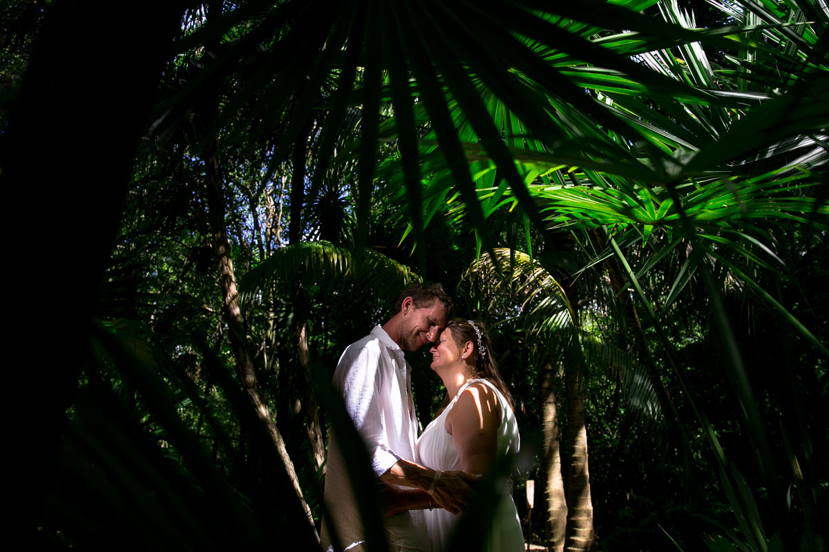Vows Renewal session in a Cenote