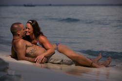 Sunset Couple portrait in Isla Mujeres