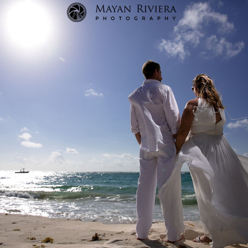 Kathy and Jeff. Riviera Maya Vows Renewal.