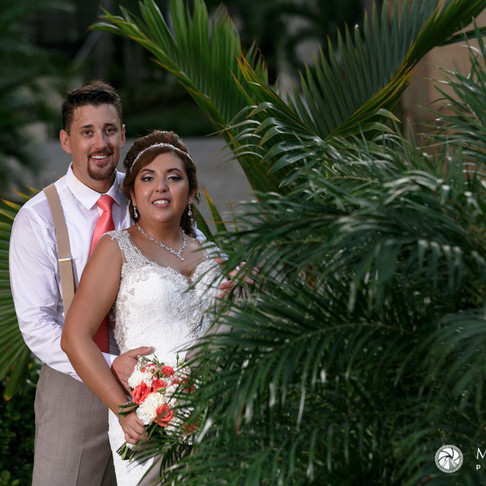 Sandos Playacar Wedding. Andrea & John