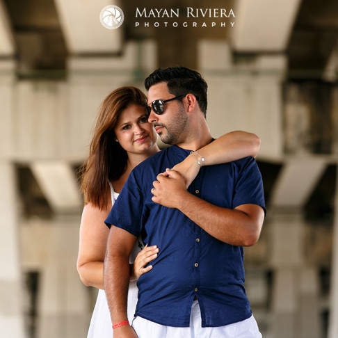 Sarah & Alexandre. Playa del Carmen.