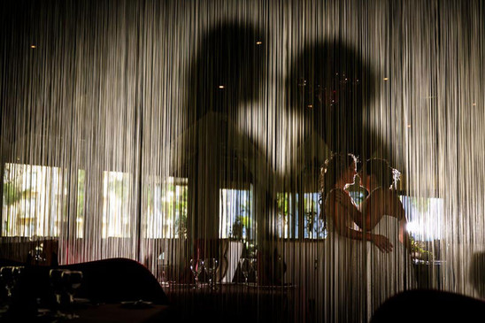 Bride and bride creative shadow affect
