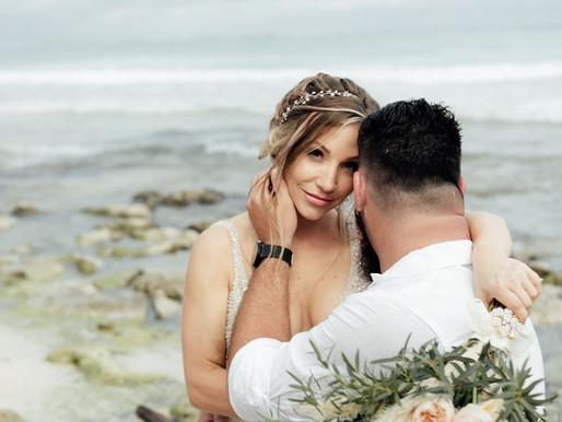 Akumal Bay Beach & Wellness Resort. Shawndelle & Philip Wedding day.