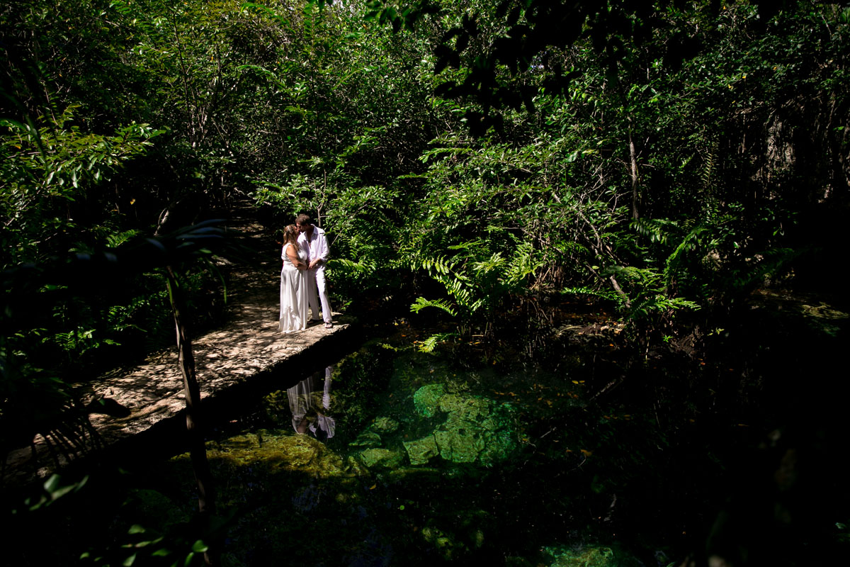 Cenote Trash the Dress Photography