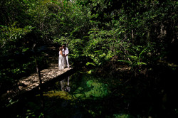 Cenote Trash the Dress Photography