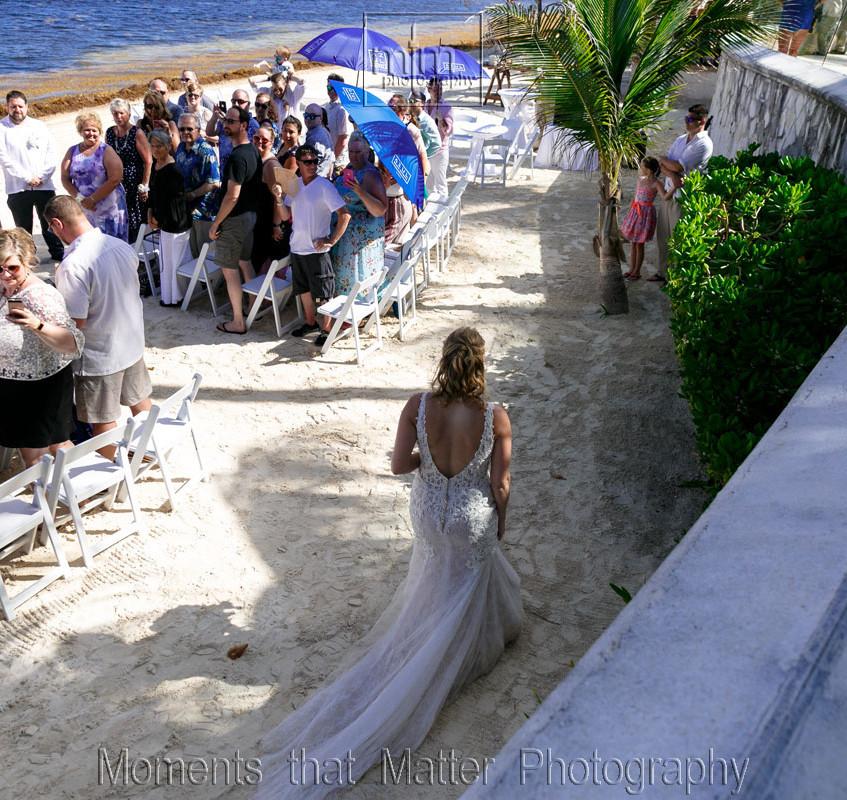 Azul Sensatori wedding location on the beach.