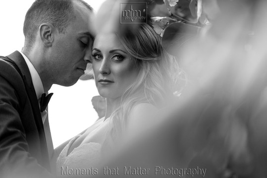 Amazing black and white of the bride and groom