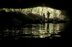 Newlyweds portraits in a Cenote Cave