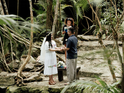 Cenote Buho Elopement Photography