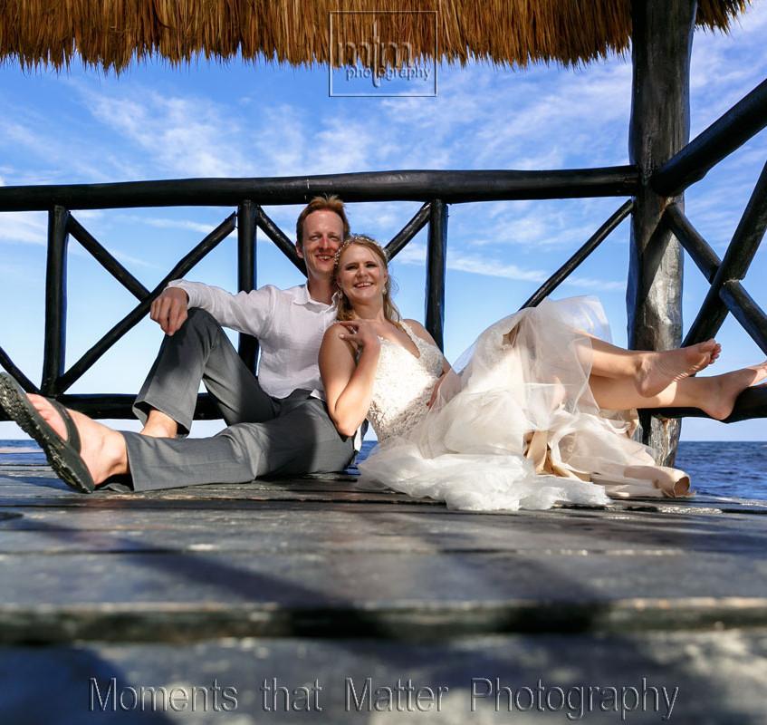 Newlyweds ideas on the pier at Azul Sensatori