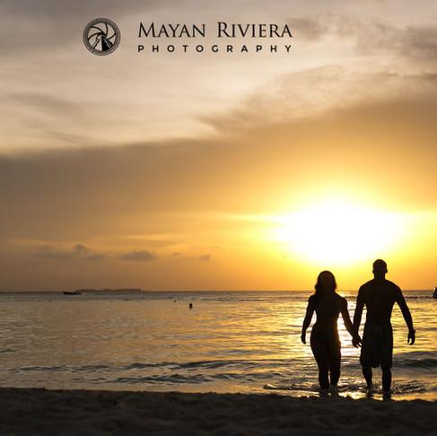 Jenny & Aj. Stunning sunset session at Isla Mujeres.