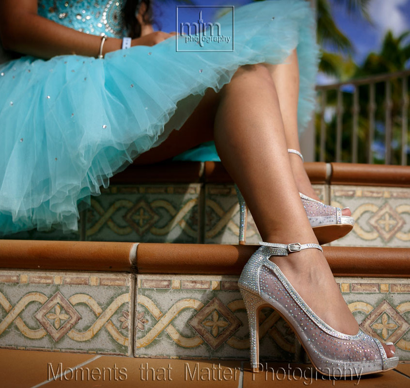 Quinceanera Dress and shoes