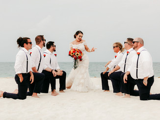 bride and groommens