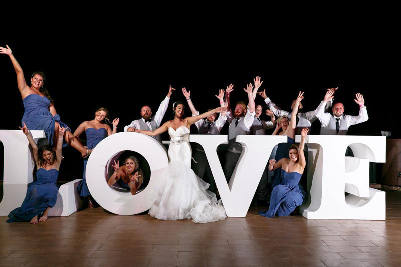 Wedding Love sign at Reception