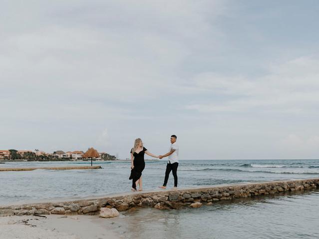 puerto aventuras engagement photography
