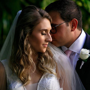 Romantic Newlywed Couple