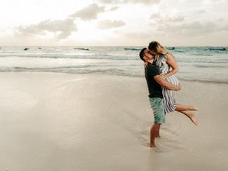 playa del carmen engagement photography