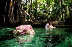 Cenote Trash the Dress Photographer
