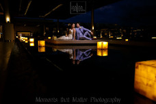 Royalton Riviera Cancun Lobby with wedding couple