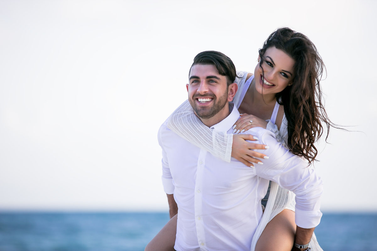 Engagement session in Playa del Carmen