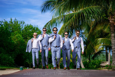 Boys headed to the ceremony at the Royalton Riviera Cancun
